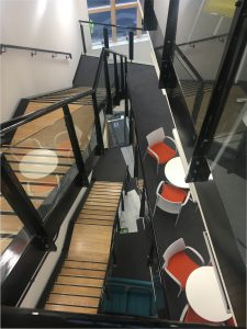 New feature staircase at PSP