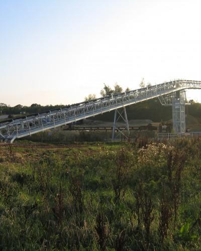 Calne quarry main tranfer conveyor feed from the field conveyor